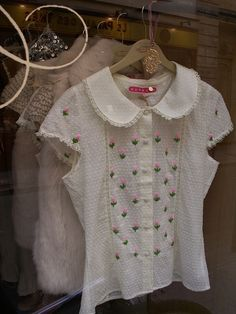 sweet blouse with embroidery