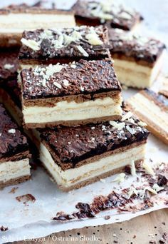 MILKY WAY BEZ PIECZENIA - ciasto w 15 minut! Polish Desserts, Polish Recipes, Sweets Recipes, Cake Recipes, Drink Recipe Book, Grilling Gifts, No Bake Cake, Sweet Treats, Food Porn