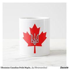 Shop Ukrainian Canadian Pride Maple Leaf Tryzub Mug created by UkrainianSoul. Ukrainian Recipes, Ukrainian Food, Ukrainian Christmas, Nail Wraps, Shot Glass, Coffee Mugs, Pride, Cool Stuff, Drinkware