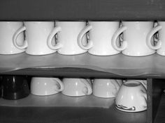 kitchen photography vintage restaurant coffee mugs by helenesmith, Etsy