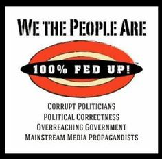 We the People are fed up! with corrupt politicians, Political Correctness, Overreaching Government, Mainstream Media Propagandists. Political Views, Political Topics, Political Quotes, Our Country, We The People, Wake Up, Islam, Knowledge, Let It Be