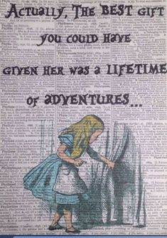 alice in wonderland quotes Alice In Wonderland Adventures Quote Vintage Dictionary Print Wall Art Picture Alice In Wonderland Drawings, Alice And Wonderland Quotes, Alice In Wonderland Vintage, Adventures In Wonderland, Wonderland Party, Alice Quotes, Disney Quotes, Disney Facts, Wall Art Quotes