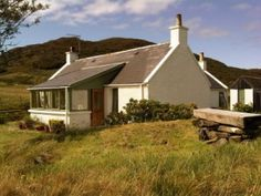Cool Cotages Scotland: Tastefully designed croft house with wooden floors and wonderful art inspired by the landscape