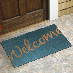 Found it at Wayfair.ca - Welcome Script Doormat