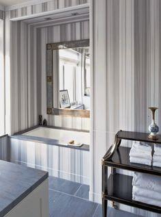 """ANN SACKS Asher Grey 30"""" x 72"""" marble slab in honed finish (designer: Michael S Smith Design)"""