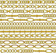 Golden Chain Vector Royalty Free Cliparts, Vectors, And Stock ...