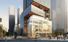 Renderings are out (h/t New York YIMBY) for the newest addition to the Hudson Yards Special District, and the building will not be a boring glass slab. Designed by Archilier Architecture, this. Concept Architecture, Facade Architecture, Amazing Architecture, Mix Use Building, Building Design, Tower Design, Architecture Visualization, Building Facade, Commercial Architecture