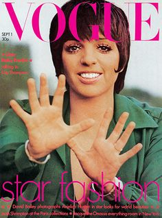 Liza Minnelli appeared on British Vogue's cover in 1973, the year she won the Oscar for Cabaret. The photographer? Actor Peter Sellers. The shot was taken during the time he had an affair with Minnelli. Sellers was an avid amateur photographer and film-maker. His friend Lord Snowdon said Sellers had got more of a kick out of having a photo in Vogue than in making a film   Credit: Peter Sellers/Vogue British Vogue's Liza Minnelli cover September 1973The