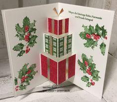 31 Ideen rund um Weihnachten: Nr. 21 – Pop – up Karte mit Geschenken und Stampin'Up!   Stempelzeit - Stampin' Up! Ideen mit Ilonka