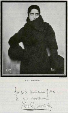 Elsa Schiaparelli, portrait by Madame D'Ora, 1931