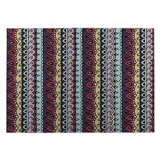 Kavka Designs / Purple/ Yellow/ Red Dimensions 2' x 3' Indoor/ Outdoor Floor Mat