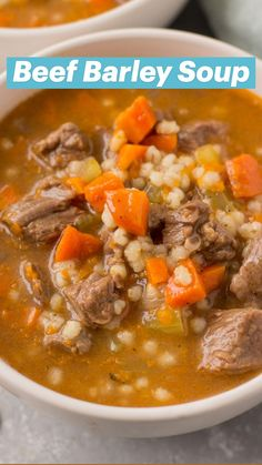 Crockpot Beef Barley Soup, Beef Soup Recipes, Healthy Crockpot Recipes, Cooking Recipes, Healthy Soups, Instapot Soup Recipes, Vegetable Soup Crock Pot, Beef Soups, Quick Soup Recipes