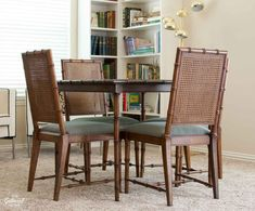 faux-bamboo-cane-back-dining-chair. How to fix sagging seat