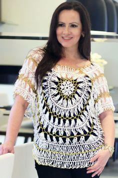 www.multitecnicas.com.br Hairpin lace ganchillo crochê de grampo