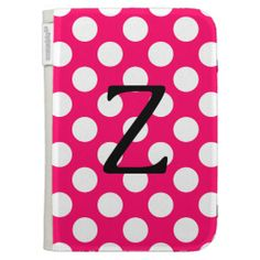 Letter Z Pink and White Polka Dot Case For The Kindle