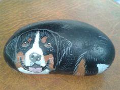 Colori acrilici - bovaro del bernese cane sasso dipinto arredamento - un prodotto unico di LaSoffittaDiSte su DaWanda