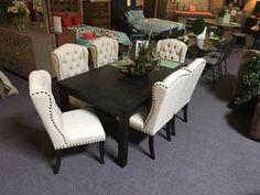 7pcs Dining room set! Dream Furniture, New Furniture, Dining Chairs, Dining Room, Dining Table, Online Furniture Stores, Room Set, Home Decor, Dinner Room