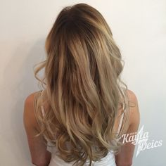 Hair by KDeics: Loving this Cool Toned Ombre for Fall! The Depth of the Chocolate Root Builds Texture and Volume for Fine Hair!