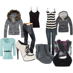 Easy go.., created by #mandy-leger on #polyvore. #fashion #style Hollister Co. Jane Norman