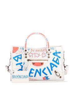 fe5026288405 Balenciaga Classic City AJ Small Graffiti Satchel Bag