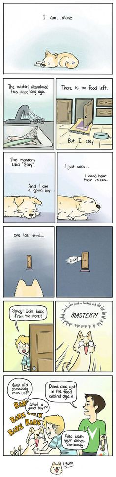 How A Dog Feels Home Alone (By The Pigeon Gazette)