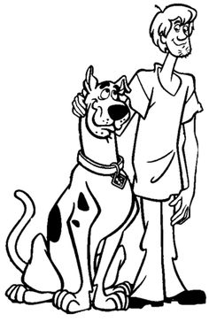 Shaggy And Scooby Coloring page