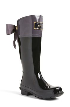 Free shipping and returns on Joules 'Evedon' Rain Boot (Women) at Nordstrom.com. A darling fitted rain boot features an embossed enamel signature plate and a glorious grosgrain bow—just think of it as riding boot in front, party boot in back.