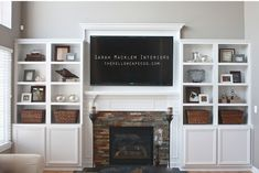 ikea besta system cabinets to surround fireplace and tv. ikea besta system cabinets to surround fireplace and tv. looks… Media room ide Built In Shelves Living Room, Built In Bookcase, Living Room With Fireplace, New Living Room, Living Room Decor, Small Living, Shelves Around Fireplace, Shelves Around Tv, Fireplace Built Ins