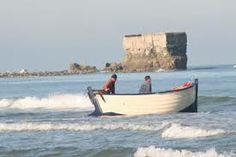 Flobart devant le fort de l'heurt à Le Portel plage