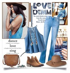 """""""Love Denim"""" by annabu ❤ liked on Polyvore featuring 7 For All Mankind, Chicnova Fashion, Sole Society, Mossimo and River Island"""