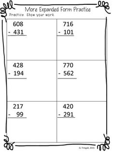 expanded form 770 070  8 Best Expanded form Math 8nd images | Second grade math ...