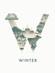 Creative Lettering, Winter, Typography, Illustration, and Season image ideas & inspiration on Designspiration Typo Design, Graphic Design Typography, Graphic Art, Creative Typography, Tableaux D'inspiration, Typographie Inspiration, Creative Illustration, Design Graphique, Typography Letters