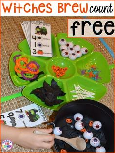 Plus my favorite Halloween activities and centers for preschool pre-k and kindergarten (art math writing letters blocks STEM sensory fine motor). FREE mummy printable too. Halloween Party Supplies, Halloween Themes, Halloween Cupcakes, Halloween Theme Preschool, Halloween Celebration, Halloween Books For Kids, Halloween Printable, Math Writing, Infant Activities