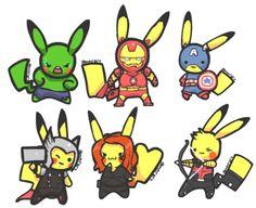 Pikachu Avengers