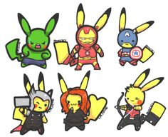 #Pikachu #Pokemon #Avengers
