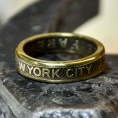 Ring made from recycled New York City Subway token