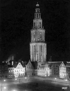 Martinitoren Grote Markt 1937