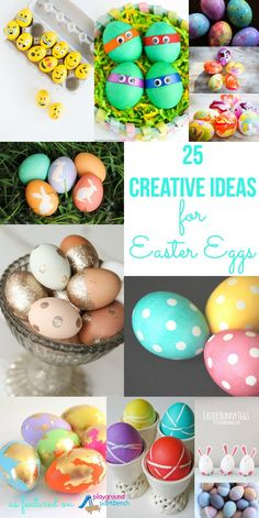 Decorating Easter eggs this holiday? These 25 creative ideas, techniques and processes will leave you with Easter eggs that look like true works of art (and they're easy too!) | Easter | Easter eggs | Crafts for Kids | Holiday |