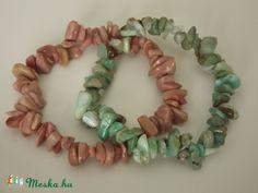 Krizopráz-thulit karkötő szett, féldrágakő, nőnek,  ásvány, elegáns, ajándék, gyöngy, karácsony, Ékszer, óra, Karkötő, Meska