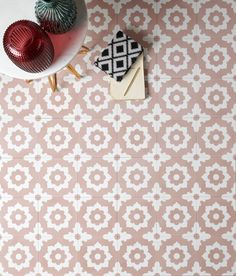 Ca' Pietra Floris Rose Encaustic Tile Victorian Hallway Tiles, Tiled Hallway, Victorian Bathroom, Shower Floor Tile, Bathroom Floor Tiles, Wall And Floor Tiles, Hall Flooring, Decorative Wall Tiles, Pink Tiles