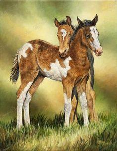 Security Blanket - horse painting by Karen Boylan
