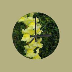 Yellow Bells Round Wallclocks