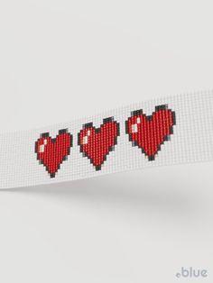 Health Bar, Ascii Art, Loom Bracelet Patterns, Loom Bands, India, Loom Beading, Handmade Bracelets, Game Art, Beaded Jewelry
