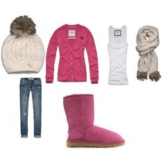 pink winter outfit I made