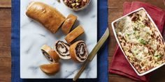 Mushroom and Herb Stromboli Recipe, made with fresh packaged pizza dough. Forget fussy appetizers—this savory stromboli is a real crowd-pleaser. Thanksgiving Appetizers, Thanksgiving Sides, Thanksgiving Recipes, Thanksgiving 2016, Vegetarian Thanksgiving, Holiday Appetizers, Holiday Foods, Holiday Recipes, Stromboli Recipe