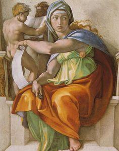 Sixtinische Kapelle, Michelangelo, Delphische Sibylle (Delphic Sibyl) by HEN-Magonza, via Flickr