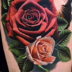 No need to worry about thorns when looking at these rad rose tattoo designs Body Art Tattoos, Tattoo Drawings, Hand Tattoos, Sleeve Tattoos, Cool Tattoos, Tatoos, Purple Tattoos, Flower Tattoos, Black And Grey Rose Tattoo