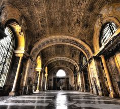 Detroit Central Station now derelict
