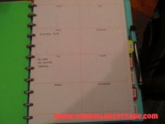 DIY Planner from One Dollar Cottage....includes some pages for GTD style projects!