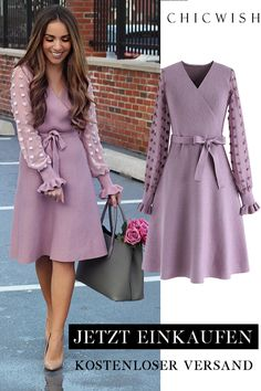 There You Go Wrap Knit Dress - Shoppen Sie Chicwish und erhalten bis zu Rabatt. Boho Dress, Knit Dress, Dress Skirt, Dress Up, Bodycon Dress, Simple Dresses, Elegant Dresses, Dresses With Sleeves, Wrap Dresses